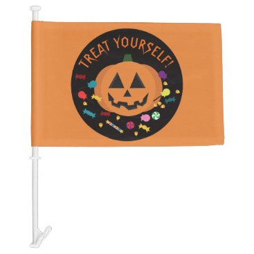 Halloween Themed Treat Yourself! Car Flag