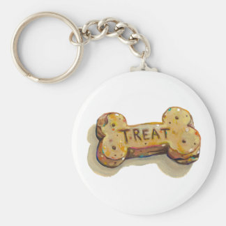 Treat yourself fun art for pet dog lovers trainers basic round button keychain