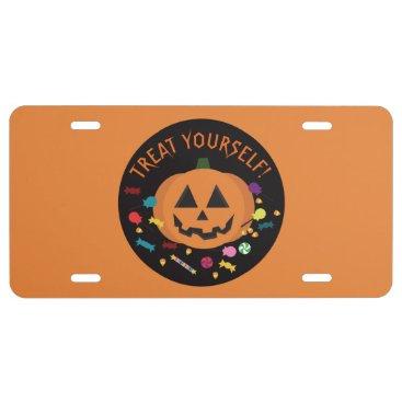 Halloween Themed Treat Yourself! License Plate