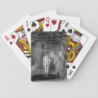 Treatment room for gassed patients at _ War image Playing Cards