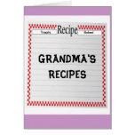 Treats, Baked, GRANDMA'S RECIPES card