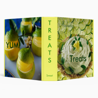 Treats Cookbook 3 Ring Binder