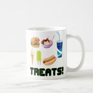 Treats Green Coffee Mug