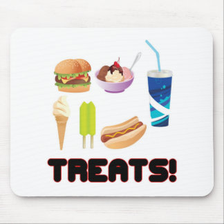 Treats Red Mouse Pad