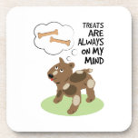 Treats Thoughts Beverage Coasters