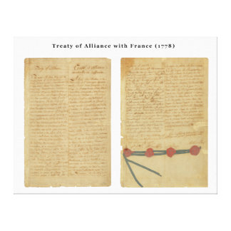 Treaty of Alliance with France Canvas Print