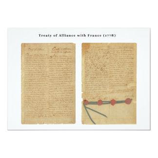 Treaty of Alliance with France Card
