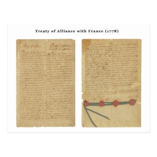 Treaty of Alliance with France Postcard