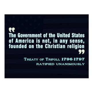 Treaty of Tripoli, 1796-97 Postcard