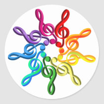 Trebel Clefs In A Pattern Stickers