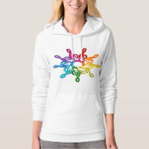 Trebel Clefs In A Pattern Womens Hoodie