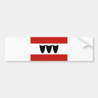 trebic city flag czech republic moravia bumper sticker