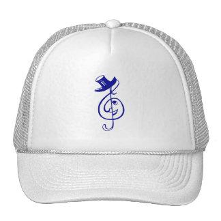 treble blue clef face top hat music design.png