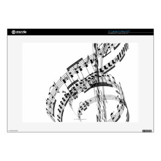"Treble Clef 15"" Laptop Skins"