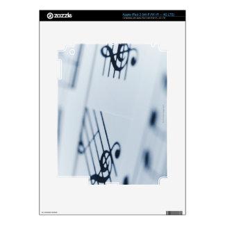 Treble Clef 2 iPad 3 Skins