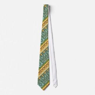 Treble Clef and Art Noveau Thistle Tie Design