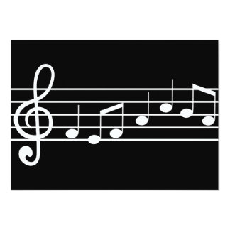 treble clef and notes : sheet music card