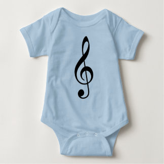Treble Clef Baby Bodysuit