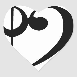 Treble Clef Base Clef Heart Heart Sticker