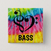 Treble Clef Bass Clef Musical Heart Bass Button