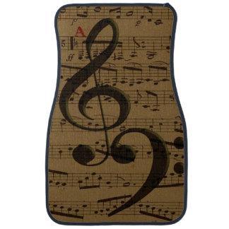 Treble Clef Bass sheet music Car Mat