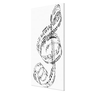 Treble Clef Gallery Wrapped Canvas