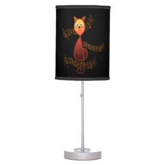 Treble Clef Cat Table Lamp