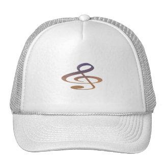 treble clef clouds purple orange mesh hats