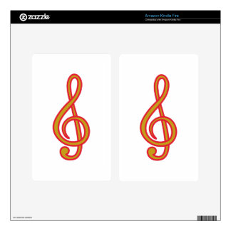 Treble Clef Decal For Kindle Fire