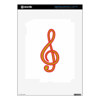 Treble Clef Decals For iPad 3