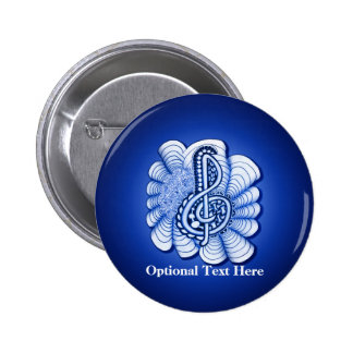 Treble Clef Decorative Art 2 Inch Round Button