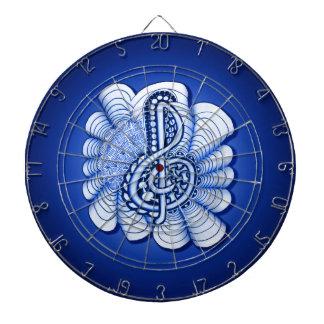 Treble Clef Decorative Art Dartboard With Darts