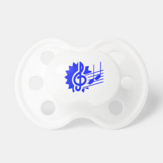 treble clef eighth notes staff graphic blue pacifier