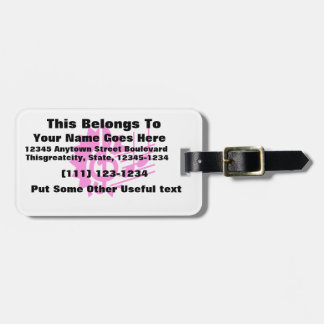 treble clef eighth notes staff graphic pink.png luggage tag