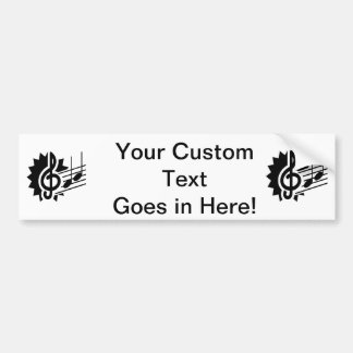 treble clef eighth notes staff graphic.png bumper sticker