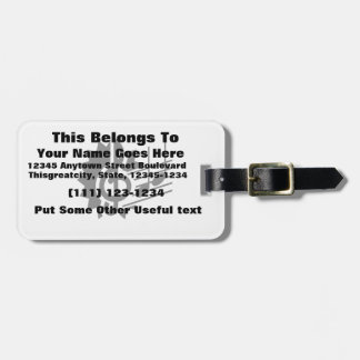 treble clef eighth notes staff graphic.png luggage tag