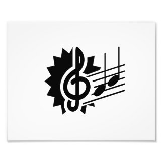 treble clef eighth notes staff graphic.png photo print