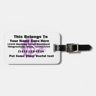 treble clef eighth notes staff graphic purple.png luggage tag
