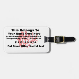 treble clef eighth notes staff graphic red.png luggage tag