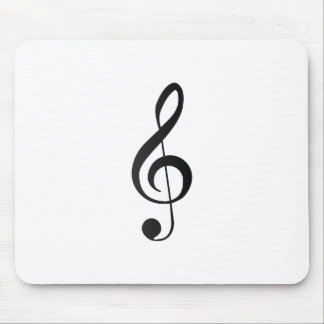 Treble clef for the music lovers mouse pad