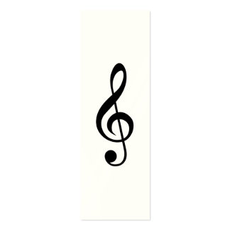 Treble Clef G-Clef Musical Symbol Business Cards