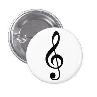 Treble Clef G-Clef Musical Symbol Button