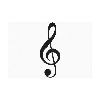 Treble Clef G-Clef Musical Symbol Canvas Print