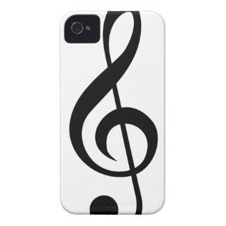 Treble Clef G-Clef Musical Symbol iPhone 4 Case-Mate Cases