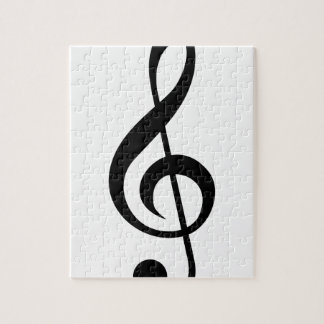 Treble Clef G-Clef Musical Symbol Jigsaw Puzzle