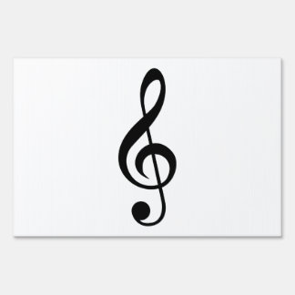 Treble Clef G-Clef Musical Symbol Lawn Sign