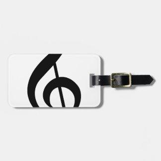 Treble Clef G-Clef Musical Symbol Bag Tag