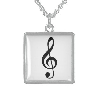 Treble Clef G-Clef Musical Symbol Pendant