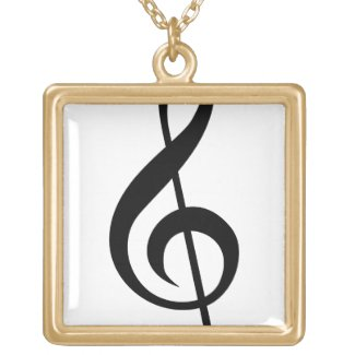 Treble   Clef G-Clef Musical Symbol Personalized Necklace