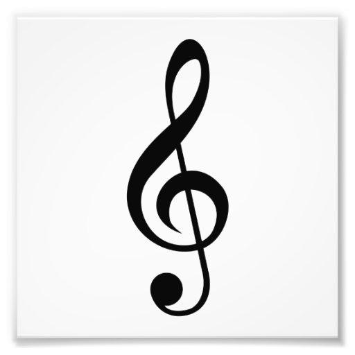 Treble Clef G-Clef Musical Symbol Photo Print | Zazzle